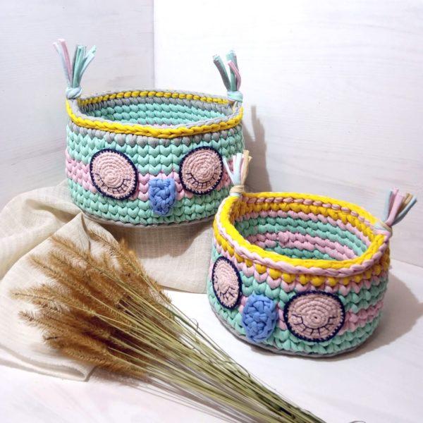 Текстильные корзины